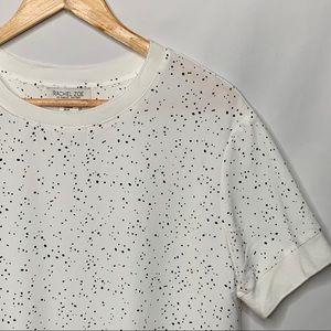 Rachel Zoe Black Speckle S/S Pullover Blouse M